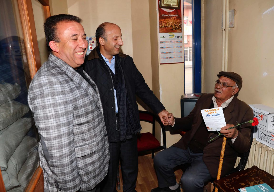 Arslan Bala'da muhtarlar, esnaf ve vatandaşlarla buluştu