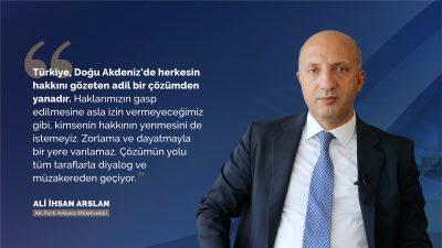 """""""Biz Akdeniz'de, Ortadoğu'da barış, huzur, güvenlikten yanayız"""""""